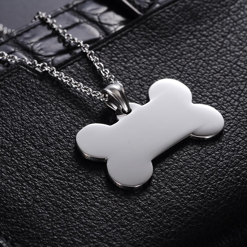 ステンレス鋼の犬の犬の骨ペンダント