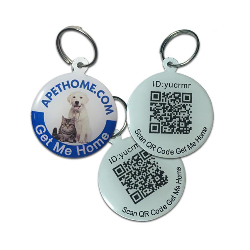 パーソナライズされた犬と猫のステンレス鋼スマートペットidタグqrコードのgps位置走査