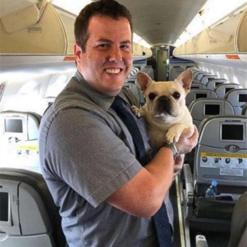 Darcyが飛行機で呼吸するのが面倒だったとき、フライトクルーは救助に来ました