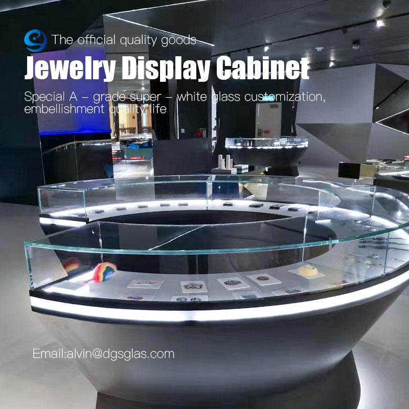 カスタマイズ宝石ディスプレイセット贅沢なディスプレイキャビネットと宝石店のショーケース