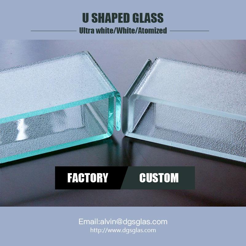 軽量新しい建築材料L半透明のU形チャンネルプロフィールガラス価格