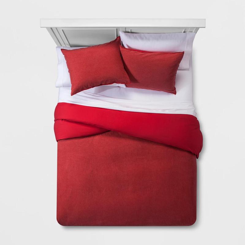 単色洗える綿の寝具布団カバーセット