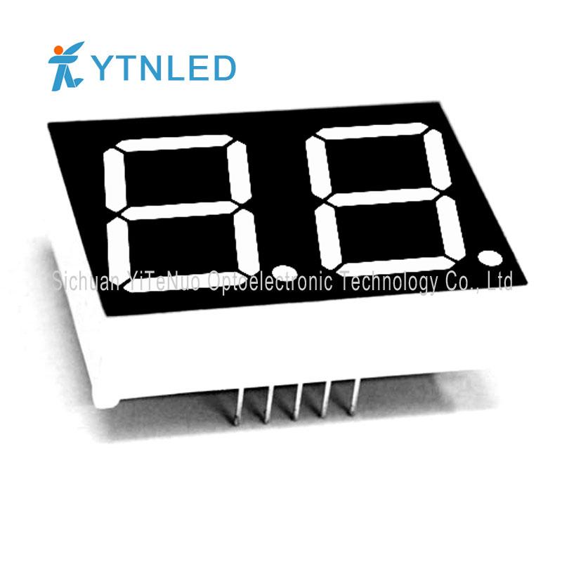 0.8インチ2ディジット赤7セグメントLEDディスプレイ、デジタルチューブ