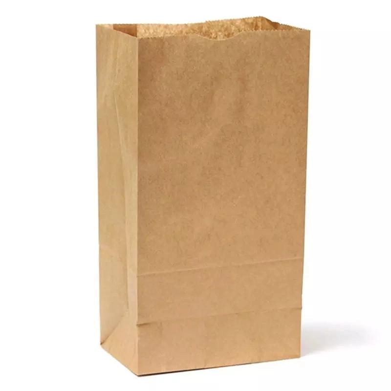 バッグ紙食品紙袋茶色リサイクル高級ショッピングスーパーバッグ紙