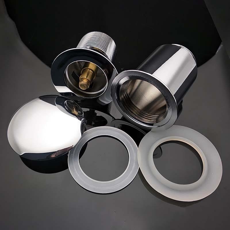 真鍮クロームメッキクリッククラックポップアップ洗面器用廃棄物