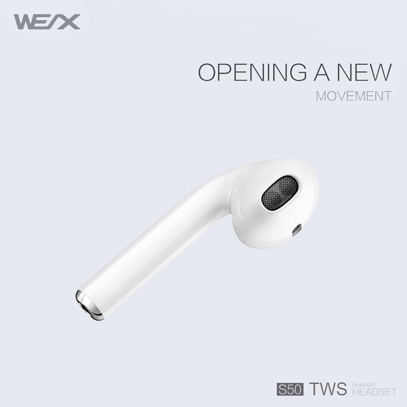 WEX S50 TWSイヤホン、真のワイヤレスステレオイヤホン