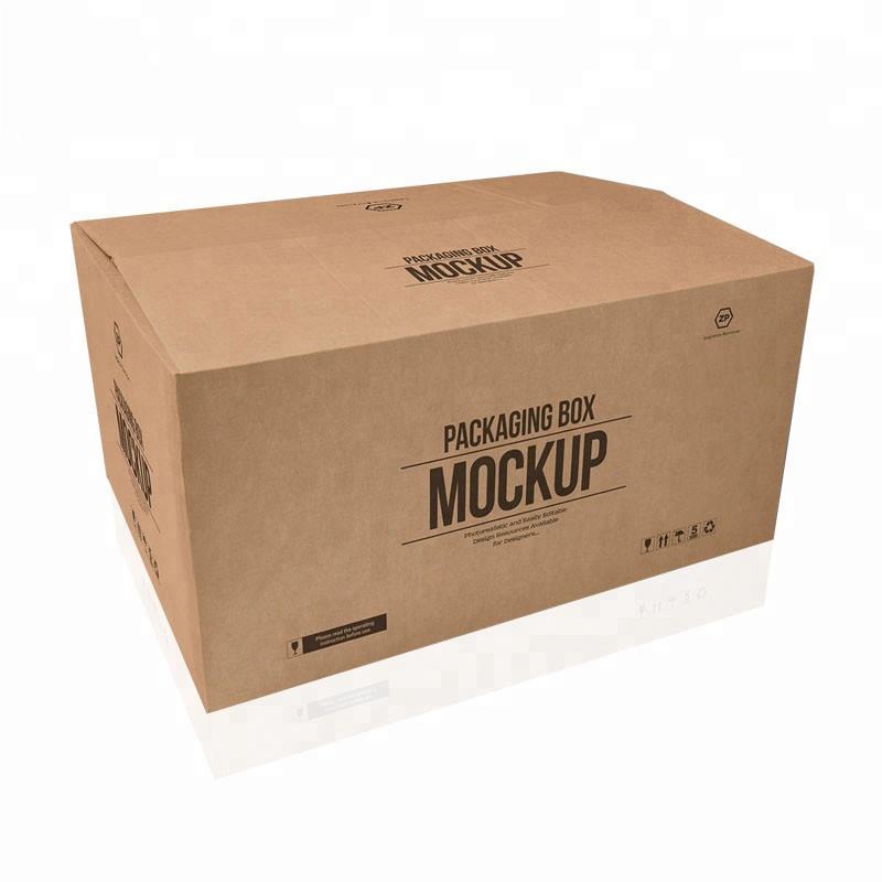 ホット販売カスタム大5層ロゴブランド印刷クラフト紙出荷配送ビッグカートンボックス
