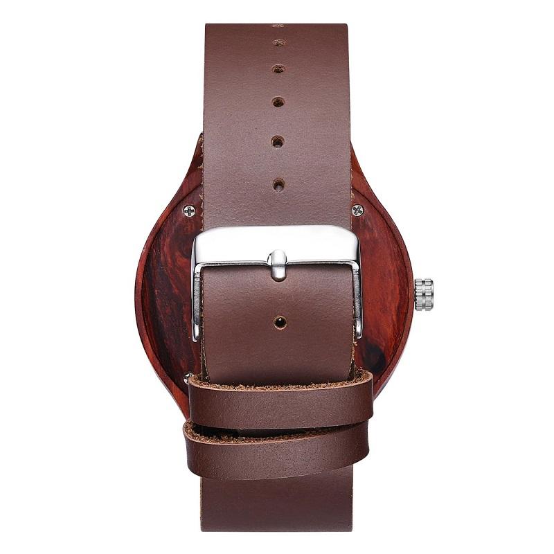 手首の木製の腕時計および最もよい革バレンタインカップルの腕時計