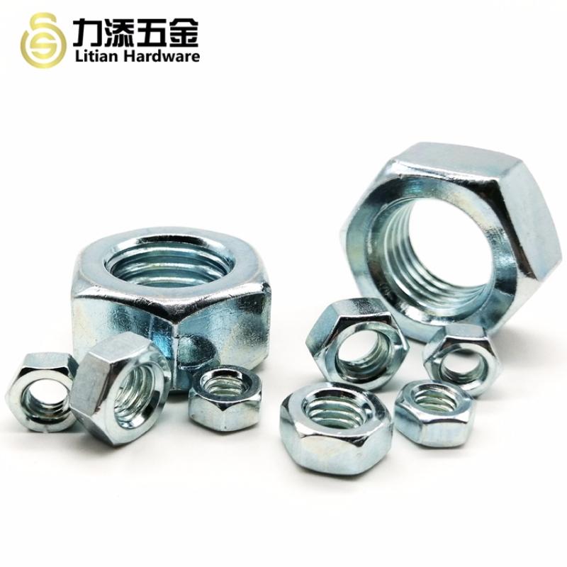 高品質の炭素鋼亜鉛メッキM3 M4 M5六角ナット