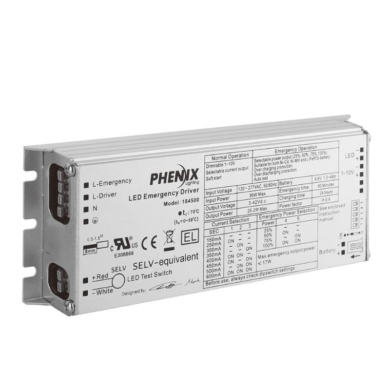 18450X統合LED AC +緊急ドライバー