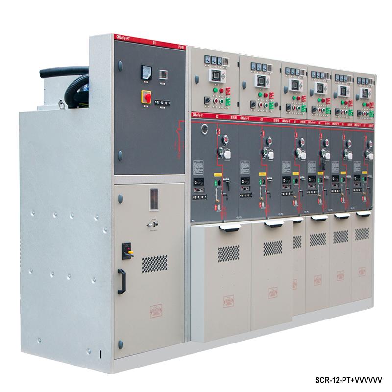 高電圧フルSF 6 11 kVリングメインユニットスイッチギア高電圧フルSF 6