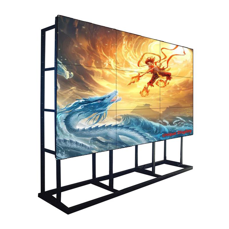 コマンドセンター、ショッピングモール、チェーンストア向けの55インチ1.7 mmベゼル500 NIT Samsung LCDビデオウォールモニターディスプレイ